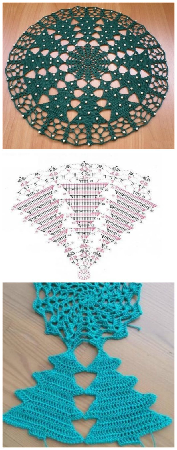 Christmas Doilies Crochet Free Pattern