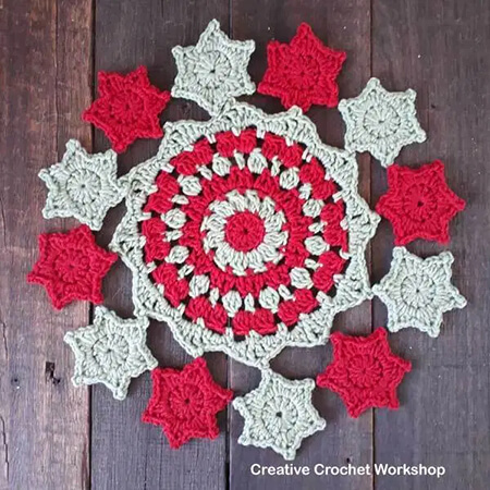 Starry Christmas Doily By Creative Crochet Workshop