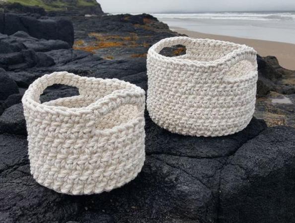 Chunky Rope Basket Crochet Pattern by Fiona Meade Crochet