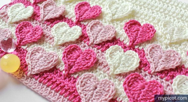 Heart Crochet Blanket Pattern Free Tutorial