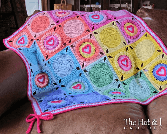 Follow Your Heart Crochet Blanket Pattern by The Hat And I