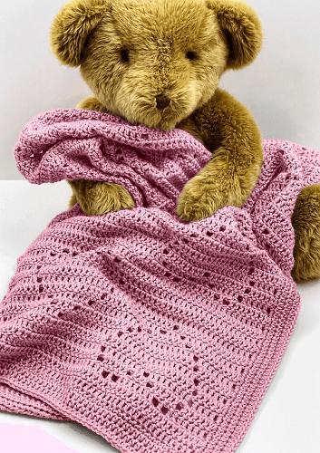 Baby Crochet Heart Blanket Pattern by Owl B Hooked