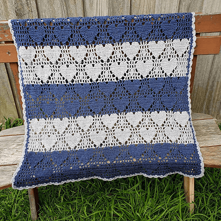 heart blanket crochet pattern