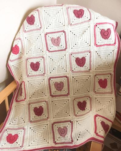 Joy In My Heart Crochet Blanket Pattern by Sew Sew Baby Store