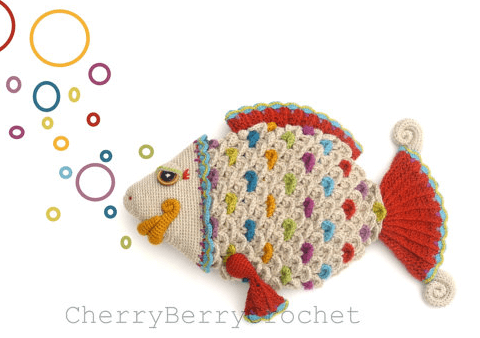Crochet Fish Crocodile Stitch Scales
