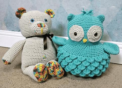 Crochet Owl Crocodile Stitch Pattern