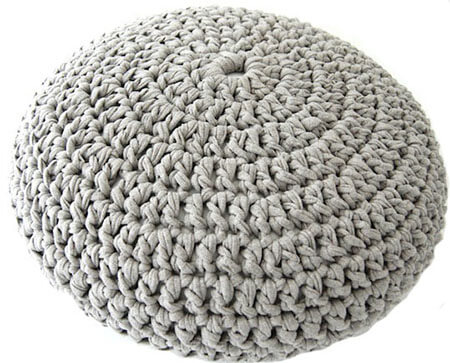 Crochet Pouf Tshirt Yarn Pattern By lvlyblog
