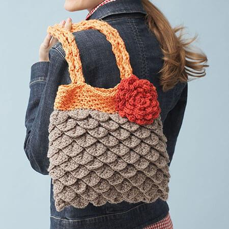 Mermaid Tears Crochet Purse