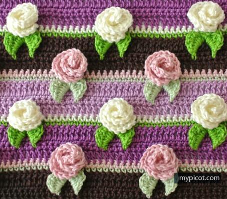 Rosebud Stitch Crochet Blanket Pattern