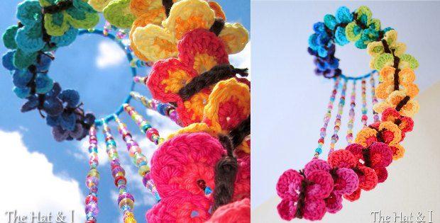 Crochet Butterfly Mobile Free Pattern
