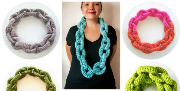 Crochet Chain Link Scarf Pattern Wow Crochet News