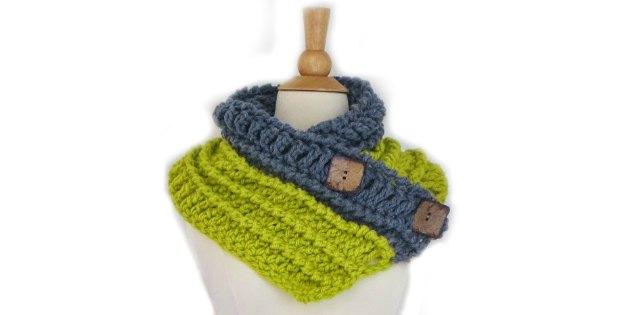 Button Cowl Crochet Pattern