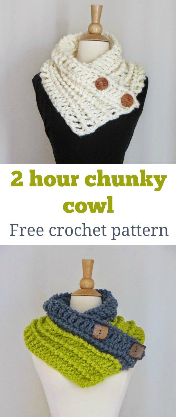 Button Cowl Crochet Pattern Free Tutorial