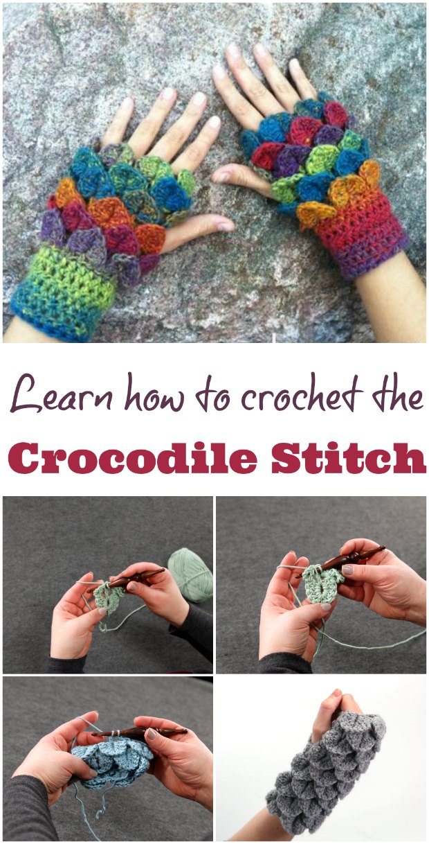 Crocodile Stitch Crochet Stitch Of The Week