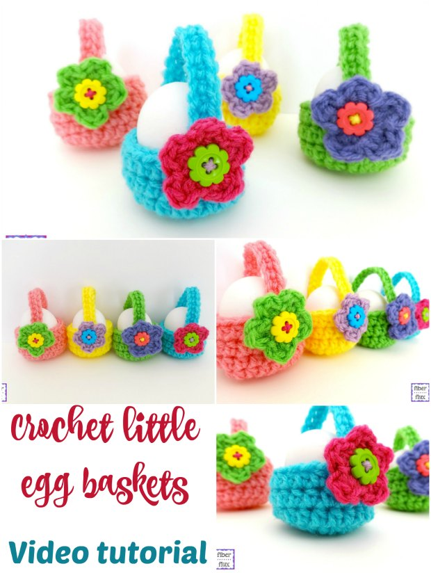 How To Crochet Egg Basket Video - Fantastic Easter Gifts