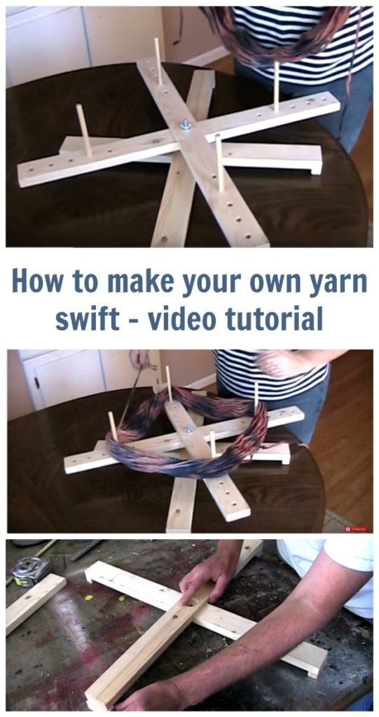 DIY Yarn Swift video tutorial