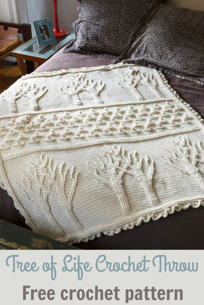 Tree of Life Afghan Throw Crochet Pattern