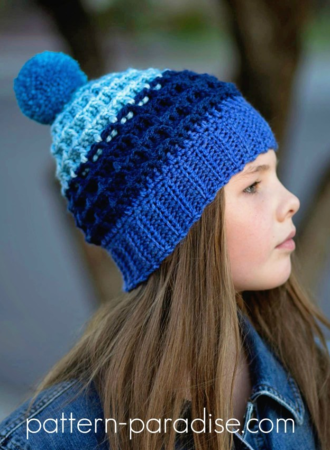 Alpine Nights Waffle Stitch Crochet Hat