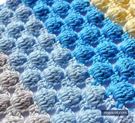 Cluster Bobble Stitch Pattern