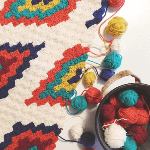 Corner To Corner Afghan Crochet Throw Southwestern Pattern