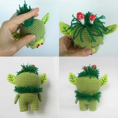 Crochet Amigurumi Toy Forest Spirit Free Pattern