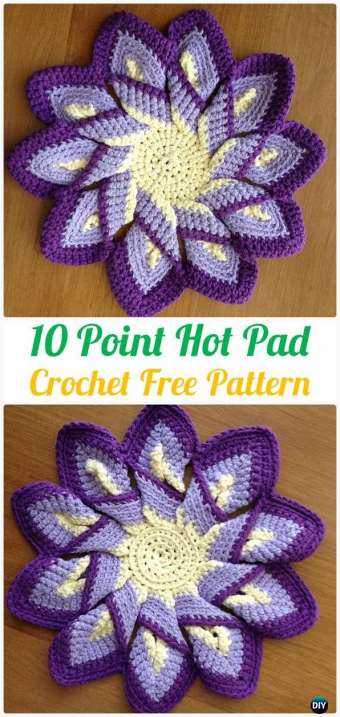 Crochet Hot Pads Classic 10 Point Pattern Free Tutorial Crochet News
