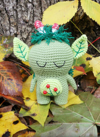 Forest Spirit Toy Amigurumi Crochet Pattern
