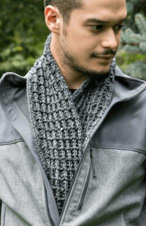 Free Waffle Stitch Crochet Scarf pattern