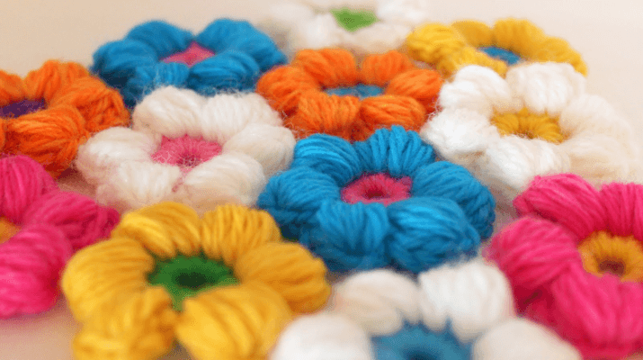 How To Crochet A Flower In Puff Stitch
