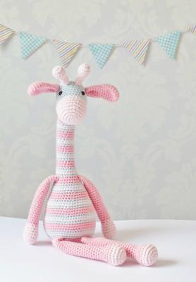 Pink And Blue Amigurumi Giraffe Pattern