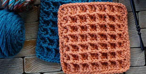 Waffle Crochet Pattern Blanket Squares