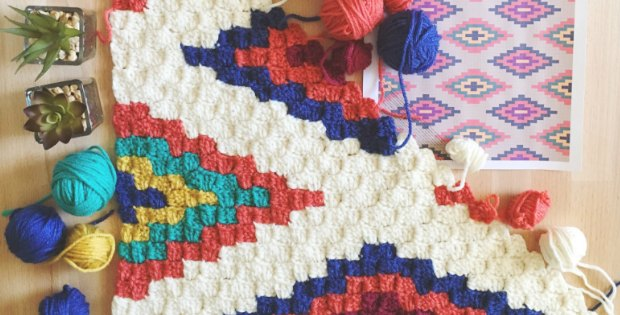 corner to corner crochet southwestern pattern
