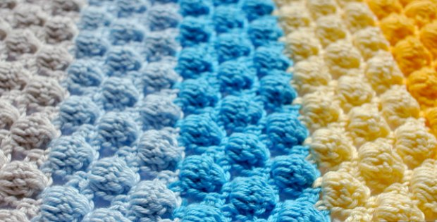 crochet baby blanket - Crochet Bobble Stitch