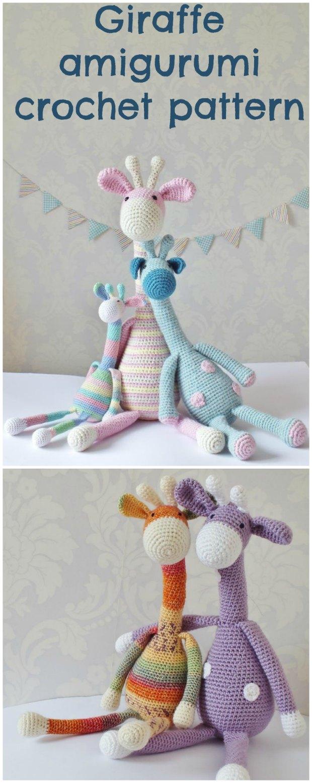 Amigurumi Giraffe Crochet English Free Pattern - Crochet.msa.plus | 1554x620