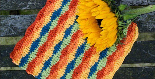 Crochet Dishcloth Lazy Waves Pattern