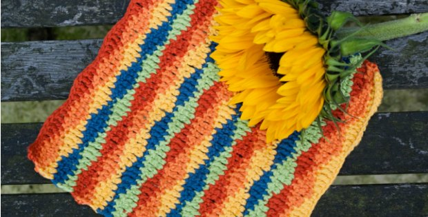 Crochet Dishcloth Lazy Waves Pattern