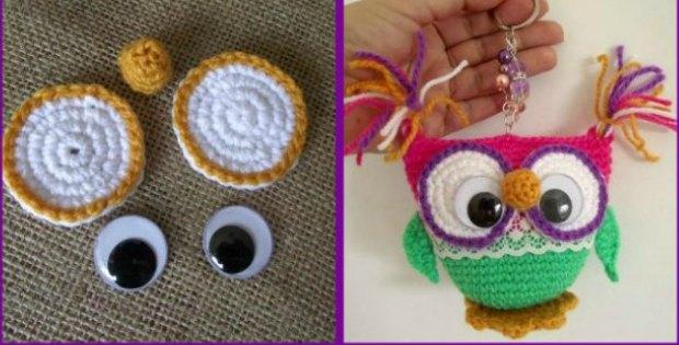 owl keychain crochet pattern