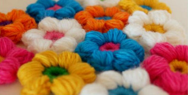 puff stitch flower