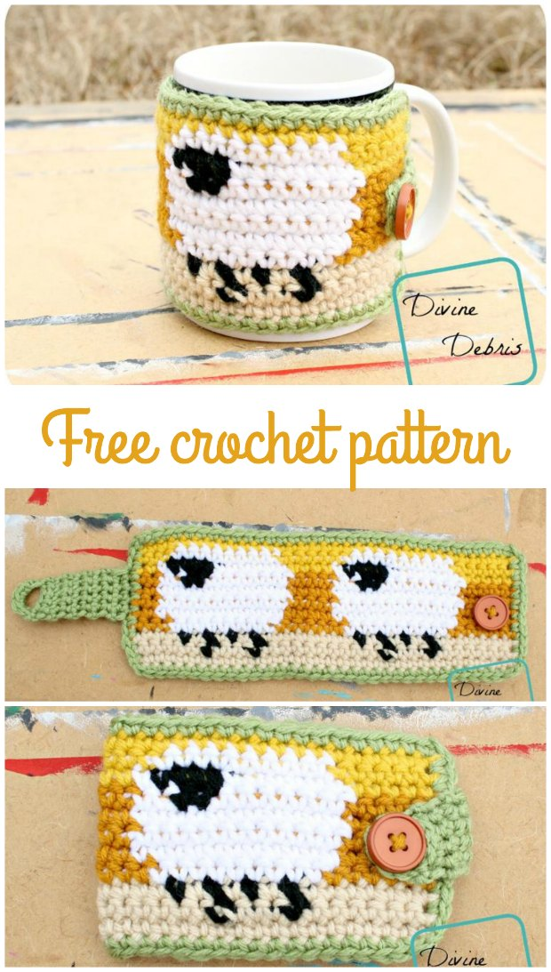 Crochet Mug Cozy Sheep Pattern So Cute Crochet News