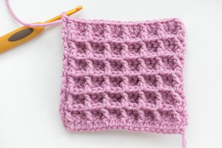 Waffle Crochet Stitch Swatch By Mirella Moments