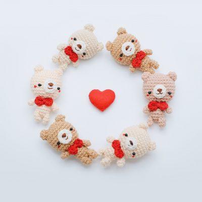 Crochet Keychain Simply Bear Amigurumi