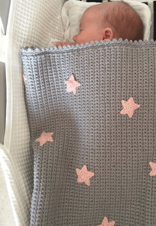 Grey Simple Crochet Baby Blanket