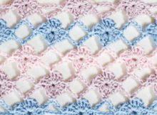 How to crochet the Flower Lattice Stitch, easy tutorial