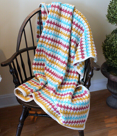 Larksfoot Stitch Blanket By Kate Elizabeth