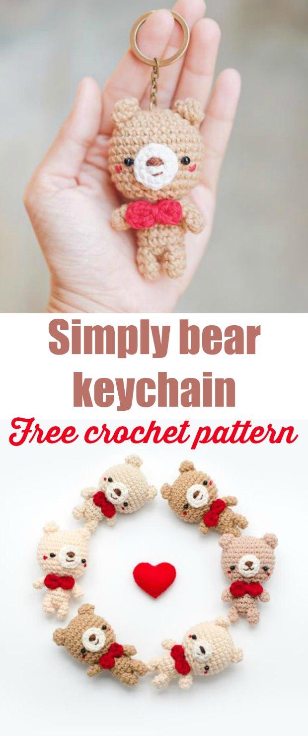 Amigurumi CROCHET PATTERN Fortune Cookie Keychain PDF | Etsy | 1480x620