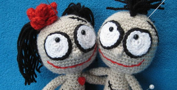 Crochet Amigurumi Voodoo Doll : Amigurumi Dolls Voodoo Pattern What A Cute Couple ...
