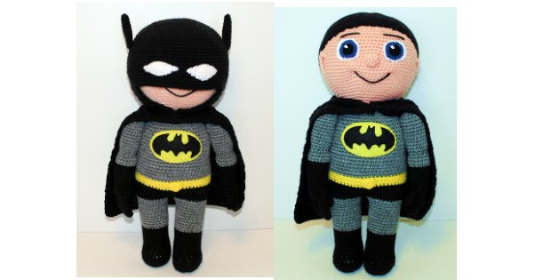 batman crochet amigurumi pattern