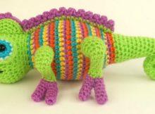 crochet chameleon amigurumi