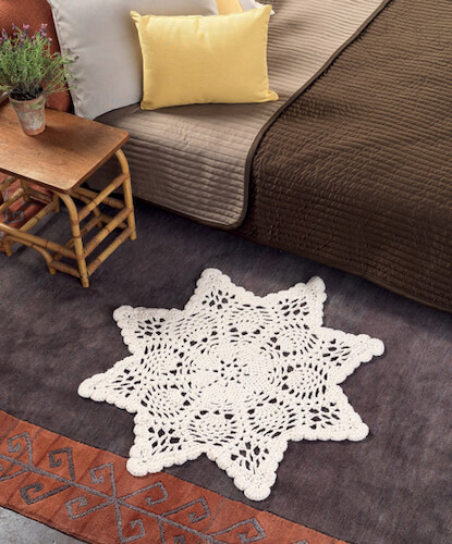 Chunky Doily Rug Free Crochet Pattern by Craft Foxes