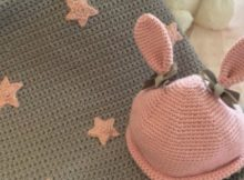 Grey Easy Star Baby Blanket Crochet Pattern